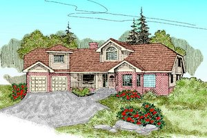 Traditional Exterior - Front Elevation Plan #60-233