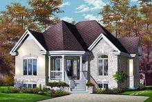 Cottage Exterior - Front Elevation Plan #23-693