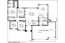 Ranch Floor Plan - Main Floor Plan Plan #70-1119