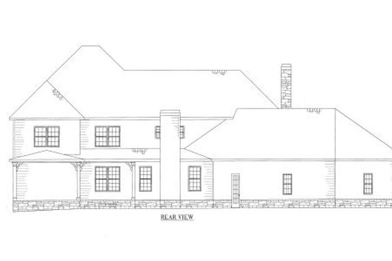 Craftsman Exterior - Rear Elevation Plan #437-46 - Houseplans.com