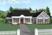 Traditional Style House Plan - 3 Beds 3 Baths 2097 Sq/Ft Plan #56-164 Exterior - Front Elevation