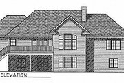Traditional Style House Plan - 4 Beds 2.5 Baths 3607 Sq/Ft Plan #70-296 Exterior - Rear Elevation