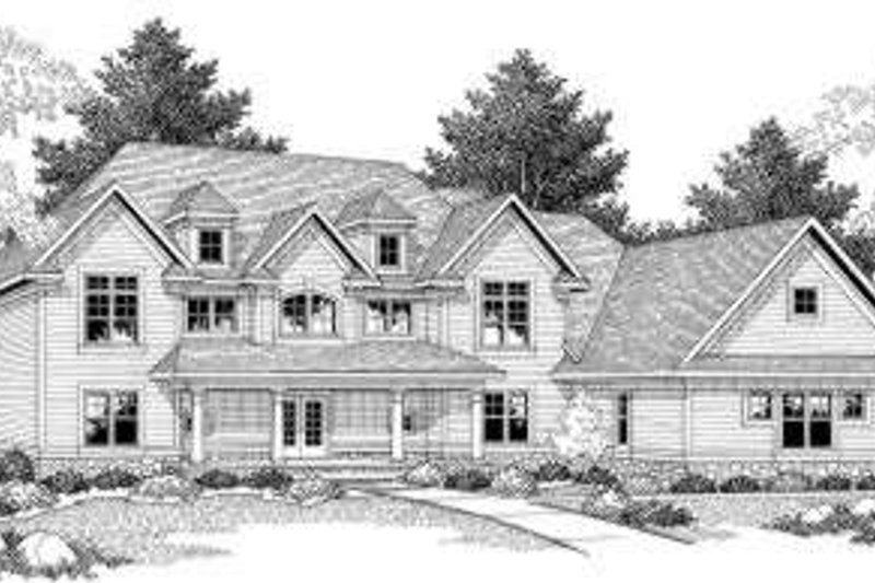 Traditional Exterior - Front Elevation Plan #70-584