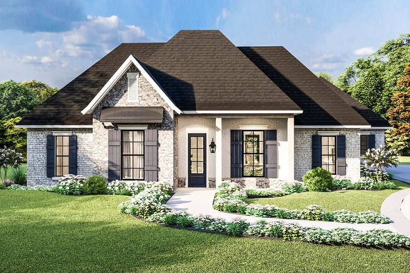 Country Exterior - Front Elevation Plan #406-9658