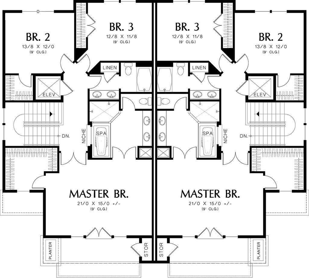 Modern Duplex House Plan