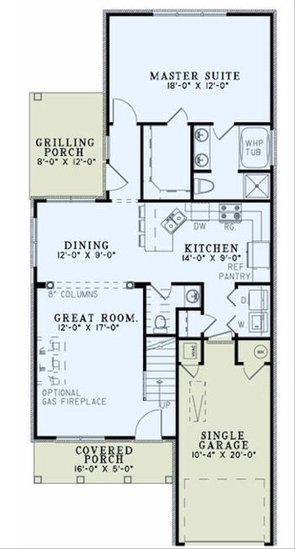 Traditional Floor Plan - Main Floor Plan Plan #17-2436