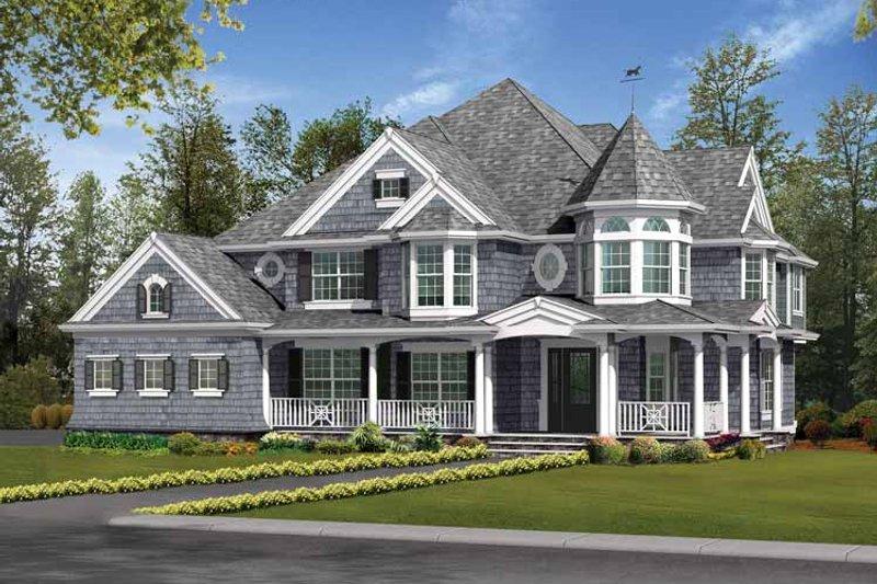 Victorian Exterior - Front Elevation Plan #132-481 - Houseplans.com