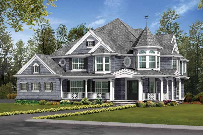 Dream House Plan - Victorian Exterior - Front Elevation Plan #132-481