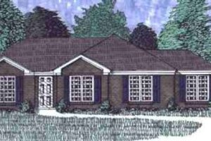 Traditional Exterior - Front Elevation Plan #69-109