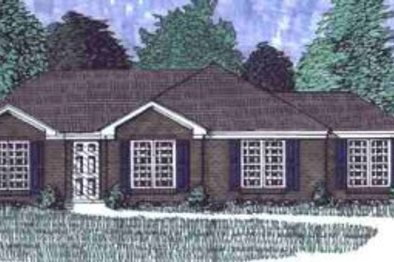 Traditional Style House Plan - 3 Beds 2 Baths 1389 Sq/Ft Plan #69-109