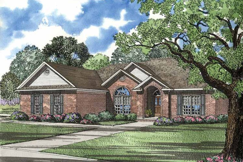 Ranch Exterior - Front Elevation Plan #17-2725