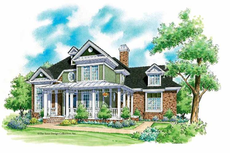 Victorian Exterior - Front Elevation Plan #930-203