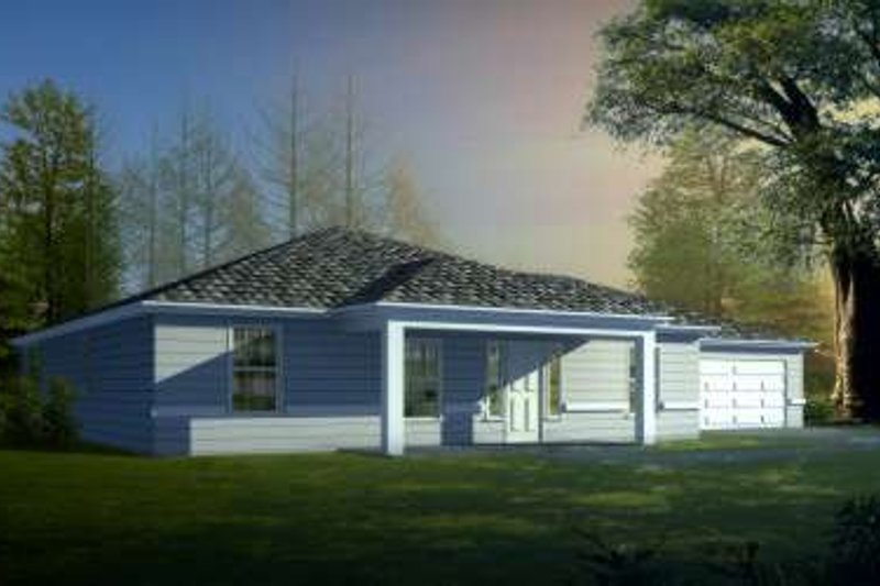 Traditional Style House Plan - 3 Beds 2.5 Baths 2309 Sq/Ft Plan #1-1453 Exterior - Front Elevation