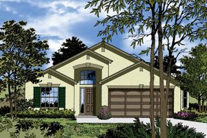 Contemporary Exterior - Front Elevation Plan #1015-32