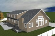 Traditional Style House Plan - 5 Beds 5 Baths 5160 Sq/Ft Plan #1060-20 Exterior - Rear Elevation