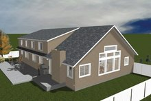 Architectural House Design - Traditional Exterior - Rear Elevation Plan #1060-20