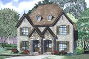 European Style House Plan - 2 Beds 2.5 Baths 1510 Sq/Ft Plan #17-2526 Exterior - Other Elevation