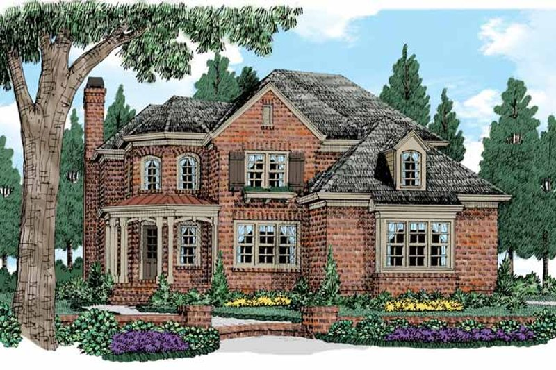 Traditional Exterior - Front Elevation Plan #927-517 - Houseplans.com