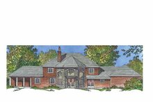 House Plan Design - European Exterior - Rear Elevation Plan #1016-96