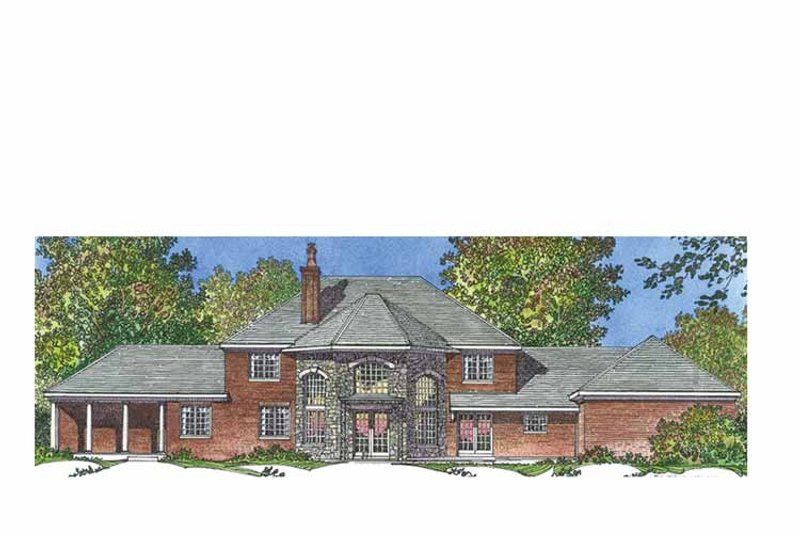 European Exterior - Rear Elevation Plan #1016-96 - Houseplans.com