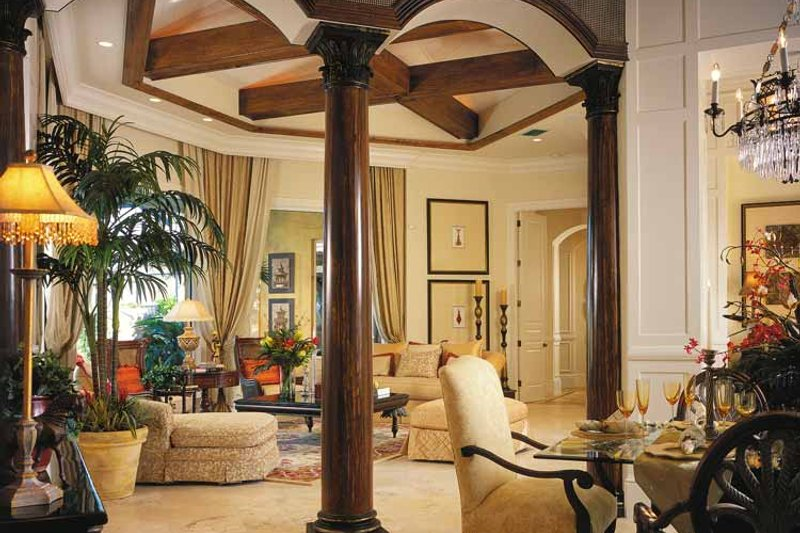 Mediterranean Interior - Family Room Plan #930-311 - Houseplans.com