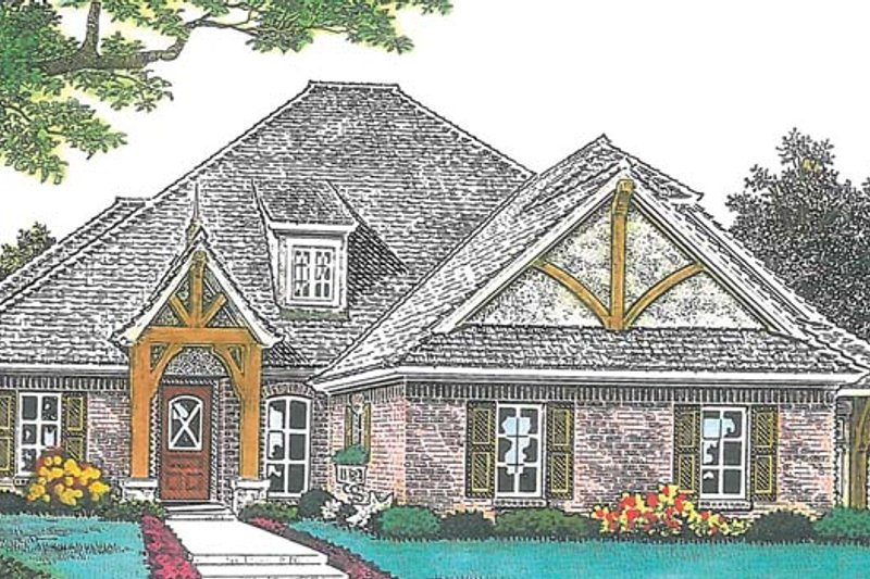 European Exterior - Front Elevation Plan #310-1274