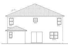 Home Plan - Mediterranean Exterior - Rear Elevation Plan #1058-65