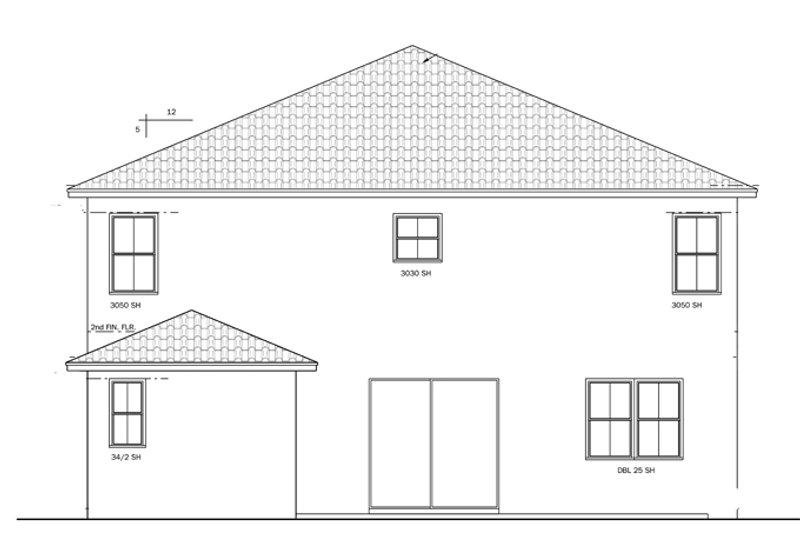 Mediterranean Exterior - Rear Elevation Plan #1058-65 - Houseplans.com