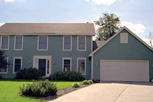 Colonial Exterior - Front Elevation Plan #51-717
