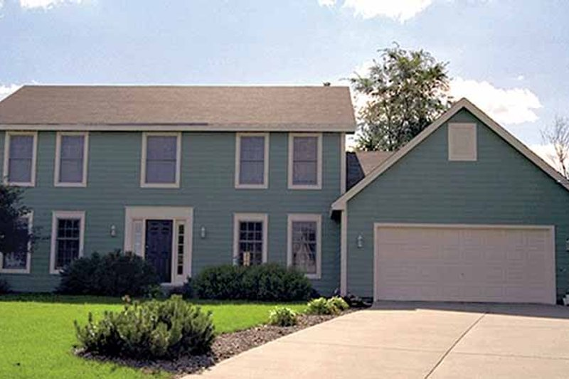 Architectural House Design - Colonial Exterior - Front Elevation Plan #51-717