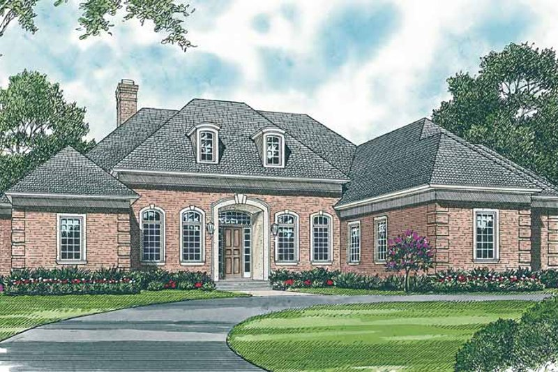 Dream House Plan - Country Exterior - Front Elevation Plan #453-438