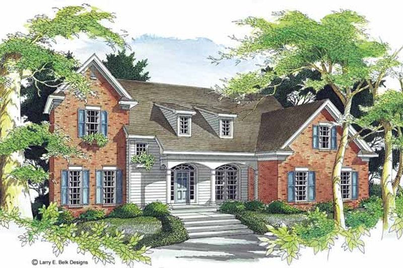 Colonial Exterior - Front Elevation Plan #952-46