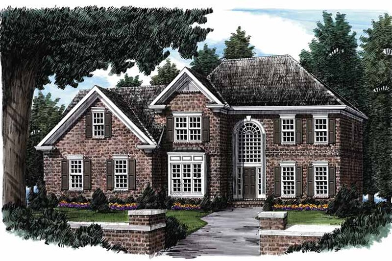 Traditional Exterior - Front Elevation Plan #927-61 - Houseplans.com