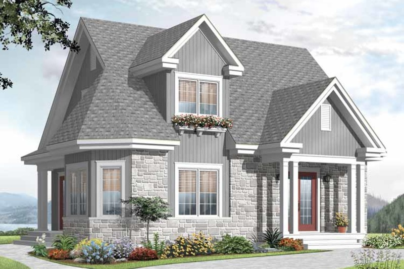 Country Exterior - Front Elevation Plan #23-2372 - Houseplans.com