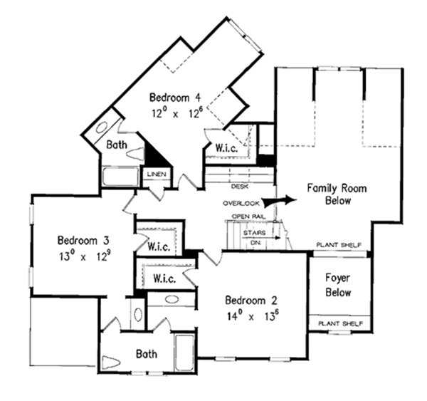 Country Floor Plan - Upper Floor Plan Plan #927-855
