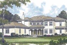 House Design - Mediterranean Exterior - Rear Elevation Plan #453-598