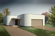 Contemporary Style House Plan - 3 Beds 2 Baths 2347 Sq/Ft Plan #906-2 Exterior - Rear Elevation