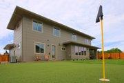 Prairie Style House Plan - 4 Beds 3 Baths 3109 Sq/Ft Plan #124-969 Exterior - Rear Elevation