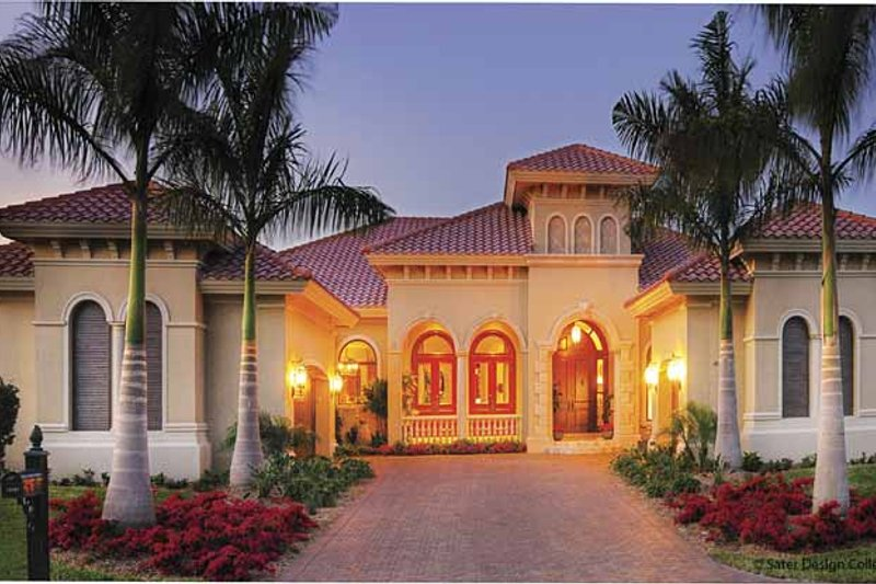 House Plan Design - Mediterranean Exterior - Front Elevation Plan #930-418
