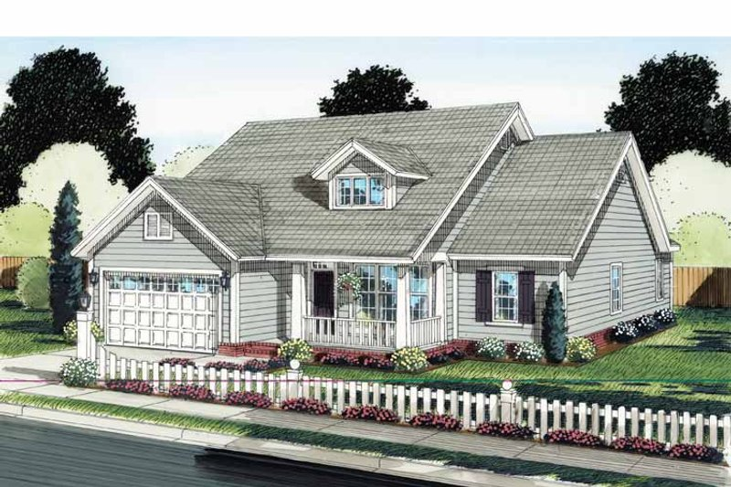 Traditional Exterior - Front Elevation Plan #513-2125 - Houseplans.com