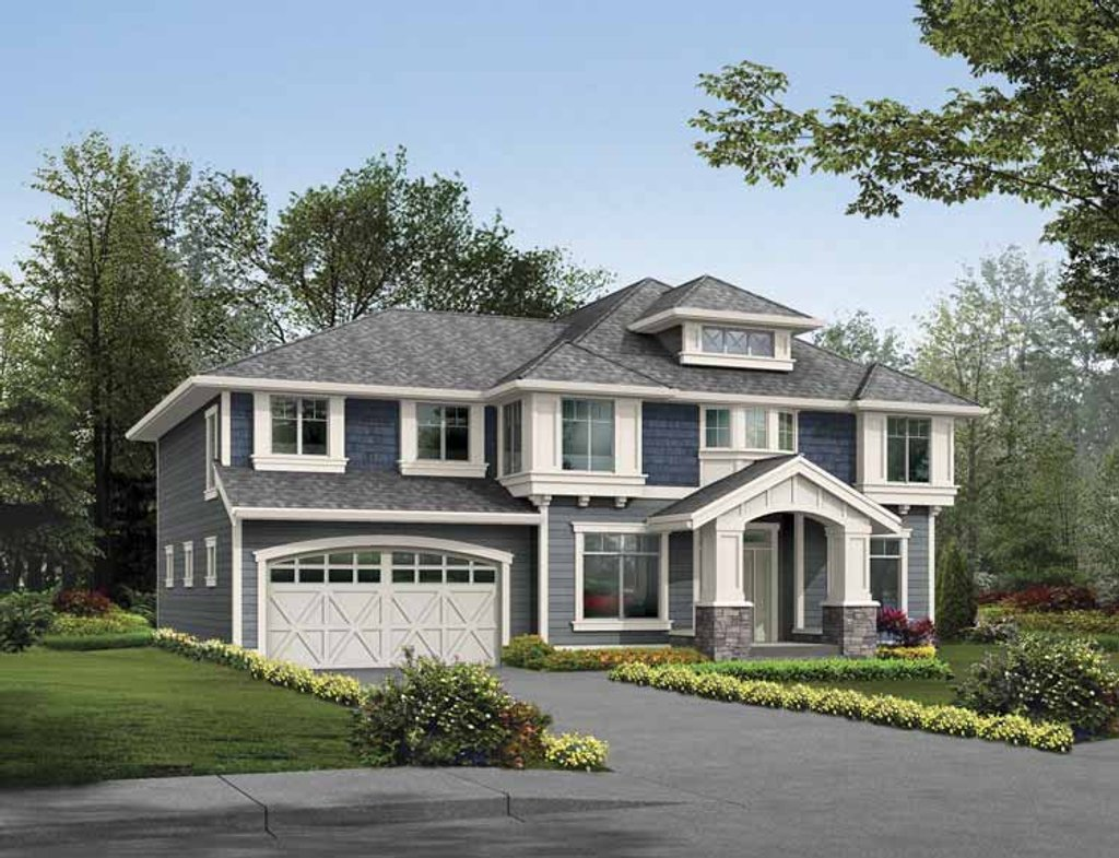 Prairie style house plan 4 beds 2 5 baths 2980 sq ft for 5 bedroom craftsman house plans