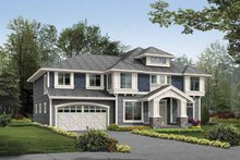 Architectural House Design - Prairie Exterior - Front Elevation Plan #132-380