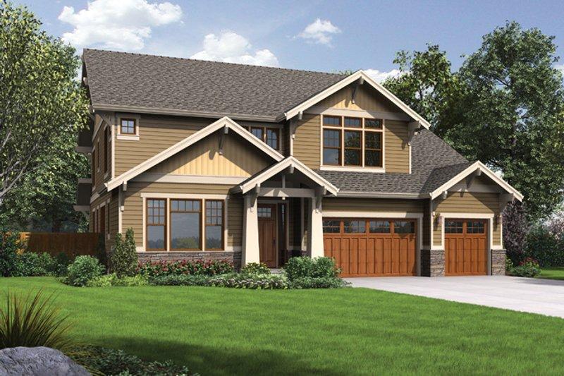 Craftsman Exterior - Front Elevation Plan #48-905