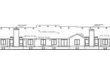 Ranch Exterior - Rear Elevation Plan #20-1574