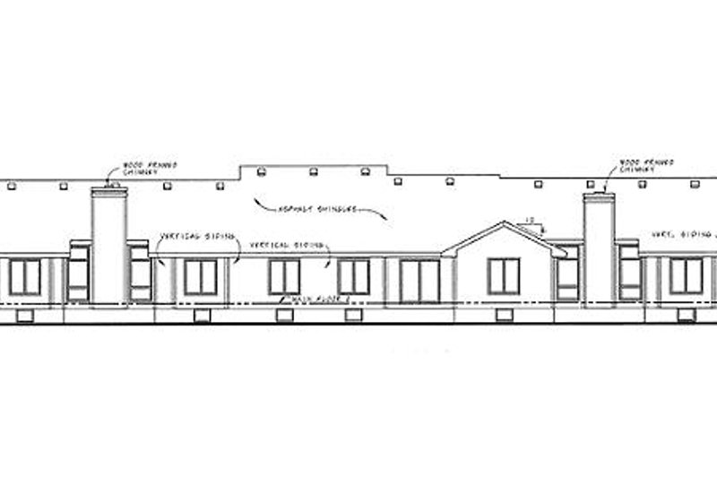 Ranch Exterior - Rear Elevation Plan #20-1574 - Houseplans.com