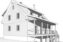 Cottage Exterior - Rear Elevation Plan #23-2718