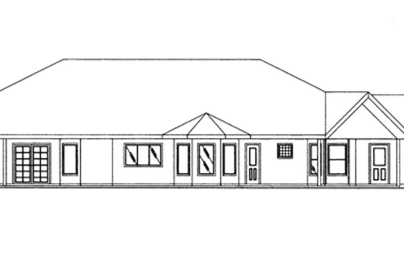 Ranch Exterior - Rear Elevation Plan #117-847 - Houseplans.com