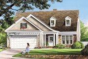 Traditional Style House Plan - 3 Beds 2.5 Baths 1838 Sq/Ft Plan #137-361 Exterior - Front Elevation