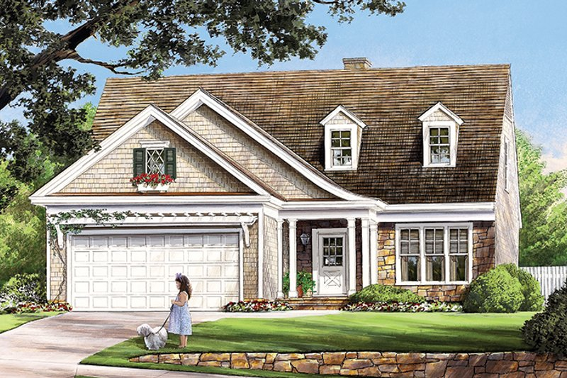Traditional Exterior - Front Elevation Plan #137-361 - Houseplans.com