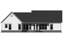 House Plan Design - Craftsman style home, rear elevation